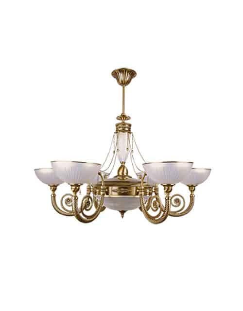 Šešių lempų sieninis šviestuvas su stikliniu gaubteliu BIBIONE