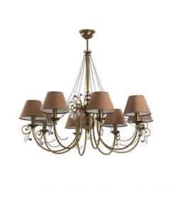 Aštuonių lempų lubinis pakabinamas šviestuvas COCO
