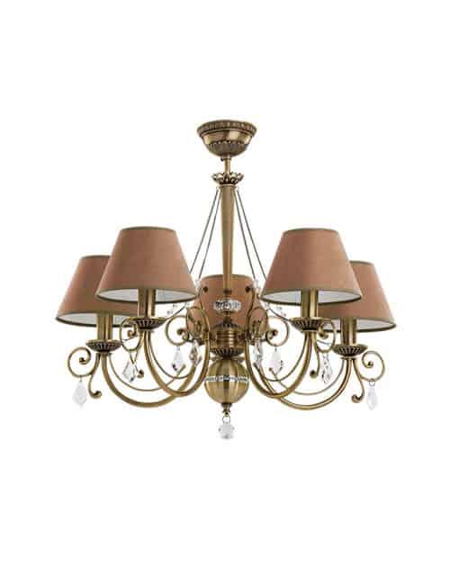 Penkių lempų lubinis pakabinamas šviestuvas COCO