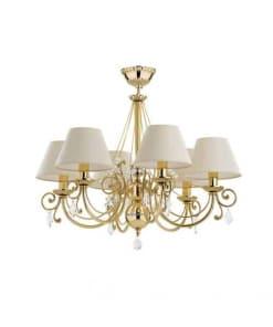 Šešių lempų lubinis pakabinamas šviestuvas COCO