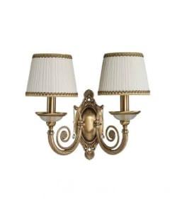 Dviejų lempų sieninis šviestuvas medžiaginiu gaubteliu BIBIONE