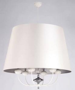 Lubinis pakabinamas šviestuvas NARNI, baltos emalės ir chromo