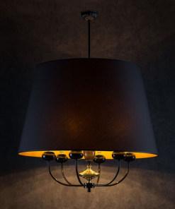 Lubinis pakabinamas šviestuvas NARNI, Juodos emalės ir chromo