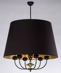 Lubinis pakabinamas šviestuvas NARNI, Juodos emalės ir poliruoto žalvario