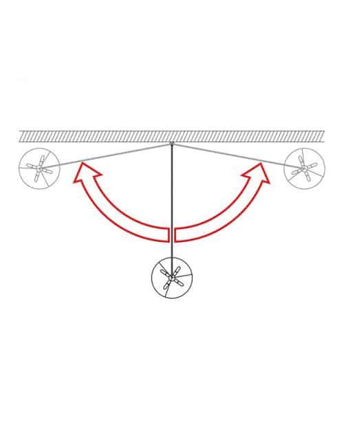 Sieninis šviestuvas LUNA, schema