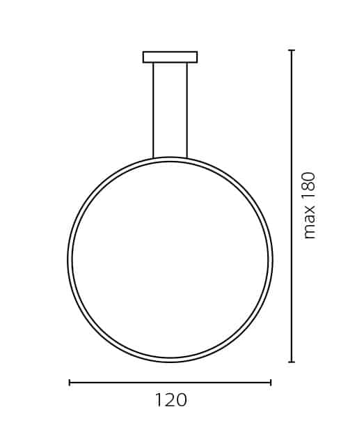 Vertikalus lubinis šviestuvas ECHO 120
