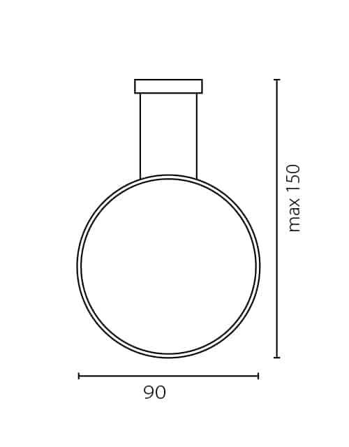 Vertikalus lubinis šviestuvas ECHO 90