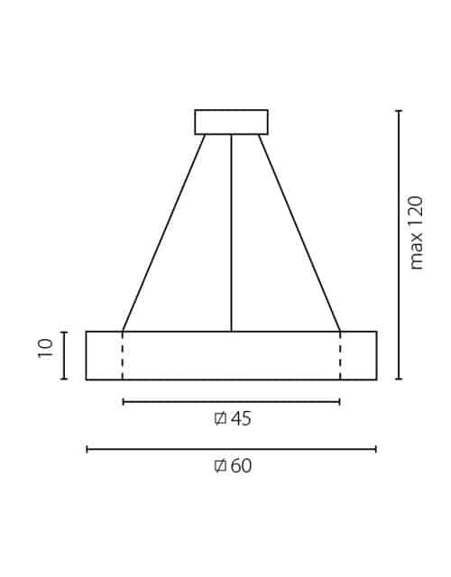 Kvadratinės formos lubinis pakabinamas šviestuvas HOLS