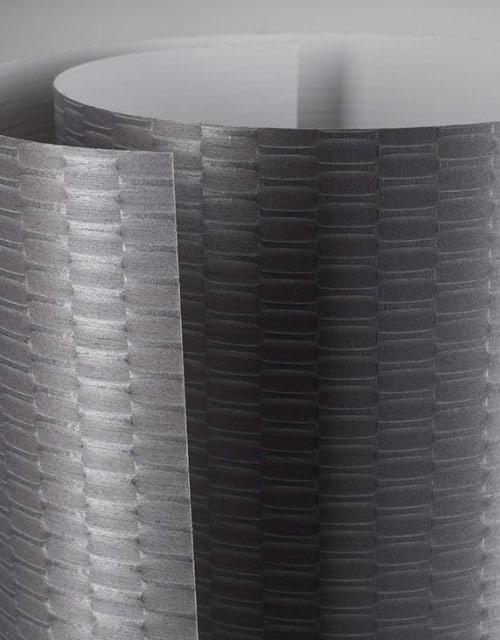 Lubinis pakabinamas šviestuvas TUBUS LED metalo raštuoto spalvos tekstilė