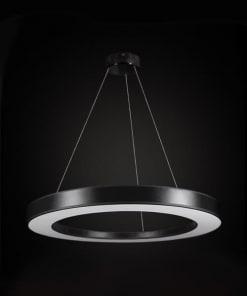 Juodos spalvos lubinis pakabinamas šviestuvas Ramko TUBUS LED