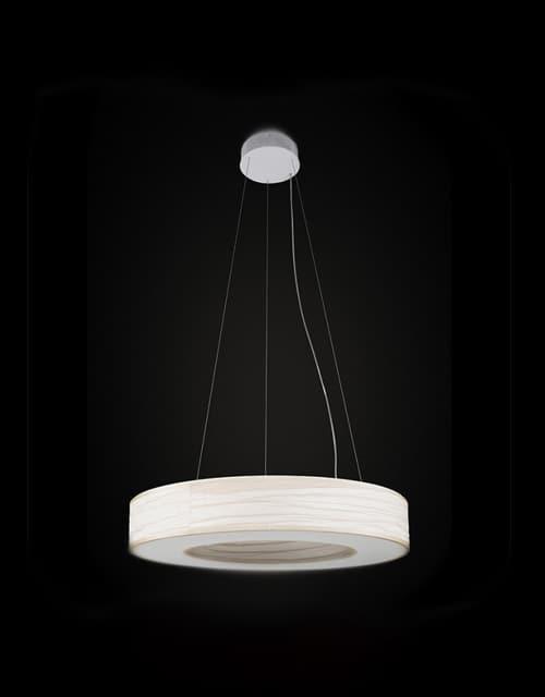Raštuotos baltos spalvos lubinis pakabinamas šviestuvas Ramko TUBUS LED