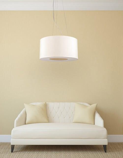 Lubinis pakabinamas šviestuvas didelėms erdvėms Ramko TUBUS svetainėje
