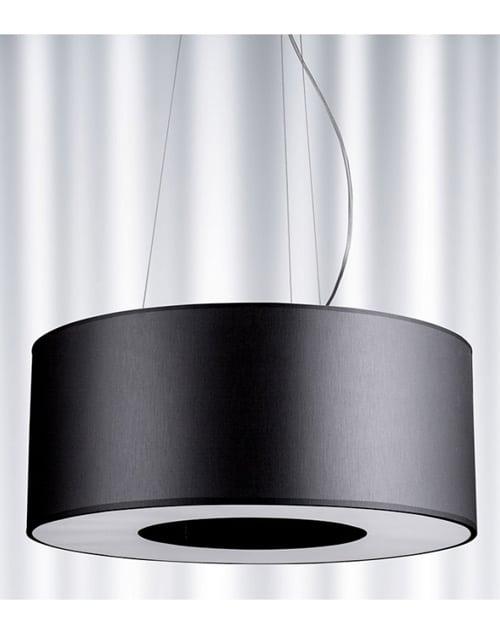Lubinis pakabinamas šviestuvas didelėms erdvėmsRamko TUBUS 50, 60 juodos spalvos išjugtas