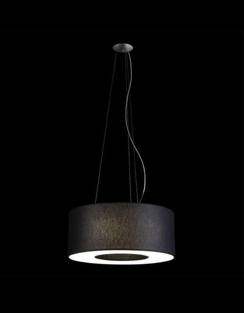 Lubinis pakabinamas šviestuvas didelėms erdvėms Ramko TUBUS 50, 60 juodos spalvos įjugtas