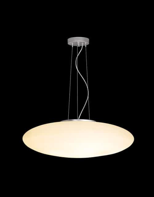 Ovalo formos lubinis pakabinamas šviestuvas UFO