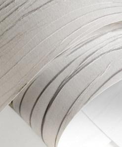Lubinis pakabinamas šviestuvas TUBUS LED balta raštuota tekstilė