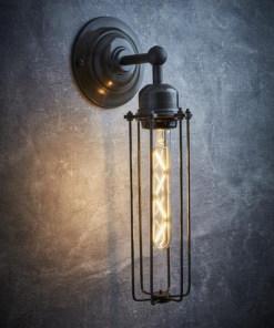 Alavo spalvos cilindro formos sieninis šviestuvas ORLANDO interjere