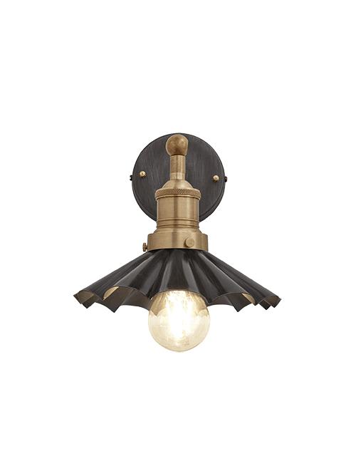 Alavo spalvos skėčio formos sieninis šviestuvas BROOKLYN su žalvariniu laikikliu