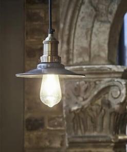 Mažas plokščios formos alavo spalvos šviestuvas FLAT