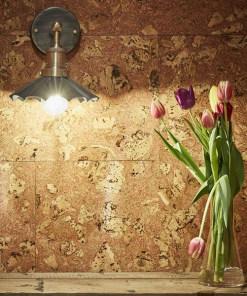 Alavo spalvos skėčio formos sieninis šviestuvas BROOKLYN interjere