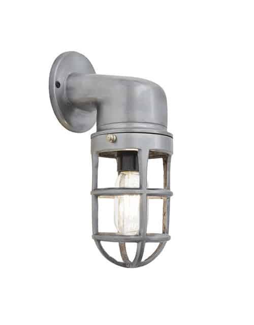 Sieninis šviestuvas su grotelėmis BROOKLYN, įjungtas