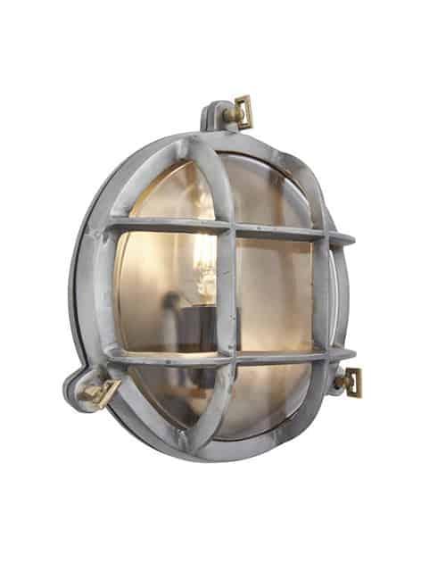 Apvalus sieninis šviestuvas BROOKLYN, įjungtas