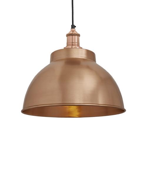 Varinis gaubto formos lubinis pakabinamas šviestuvas BROOKLYN su variniu laikikliu
