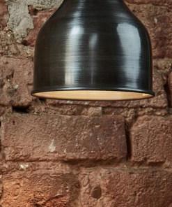Mažas kūgio formos alavuotas lubinis pakabinamas šviestuvas CONE