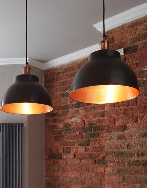 Alavo ir vario spalvos gaubto formos lubinis pakabinamas šviestuvas BROOKLYN