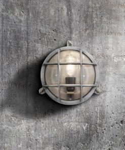 Apvalus sieninis šviestuvas BROOKLYN interjere