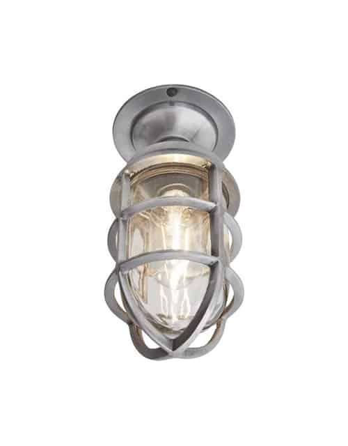 Jūrinio stiliaus sieninis šviestuvas BROOKLYN, įjungtas