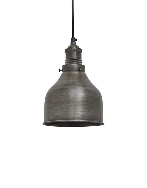 Mažas kūgio formos alavuotas lubinis pakabinamas šviestuvas CONE su alavo laikikliu