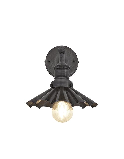 Alavo spalvos skėčio formos sieninis šviestuvas BROOKLYN su alaviniu laikikliu