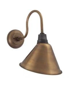 Žalvario spalvos kūgio formos sieninis šviestuvas SWAN NECK