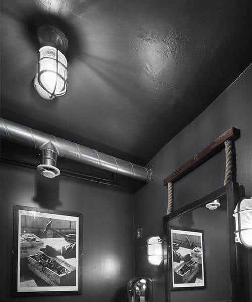 Jūrinio stiliaus sieninis šviestuvas BROOKLYN interjere