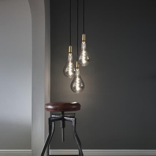 Vienos lemputės vintažinis šviestuvas EDISON