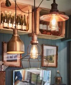 Kūgio formos šviestuvas RUSTY WIRE, Cilindro formos šviestuvas RUSTY WIRE, Rožės formos šviestuvas RUSTY WIRE