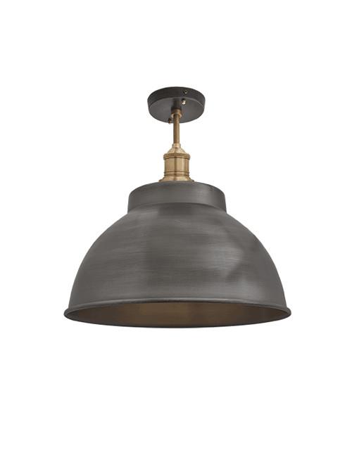 Alavo spalvos lubinis šviestuvas BROOKLYN su žalvariniu laikikliu