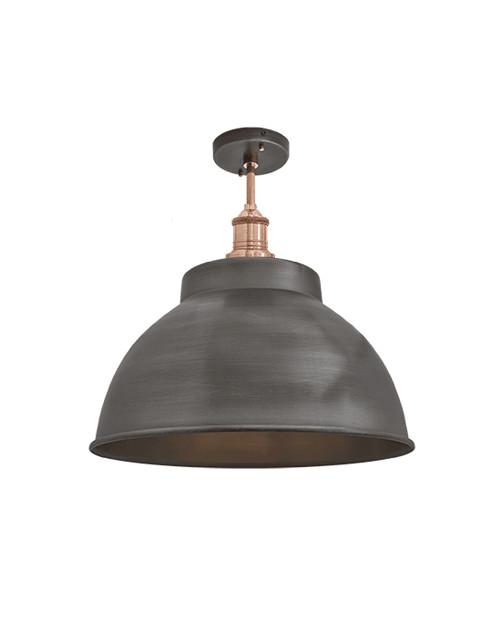 Alavo spalvos lubinis šviestuvas BROOKLYN su variniu laikikliu