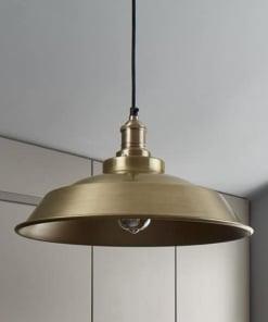 Žalvario spalvos lubinis pakabinamas šviestuvas STEP