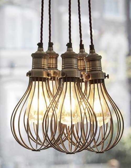 Lubinis pakabinamas šviestuvas BALLOON - keli šviestuvai naudojami kaip lempa