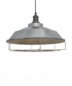 Šviesaus alavo spalvos lubinis pakabinamas šviestuvas STEP su alavo laikikliu ir dekoratyvine apsauga