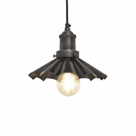 Alavo spalvos lubinis pakabinamas šviestuvas UMBRELLA su alavo laikikliu