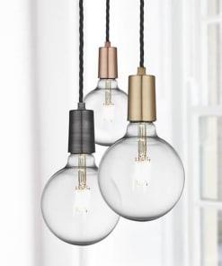 Lubiniai pakabinami šviestuvai su viena lempute EDISON