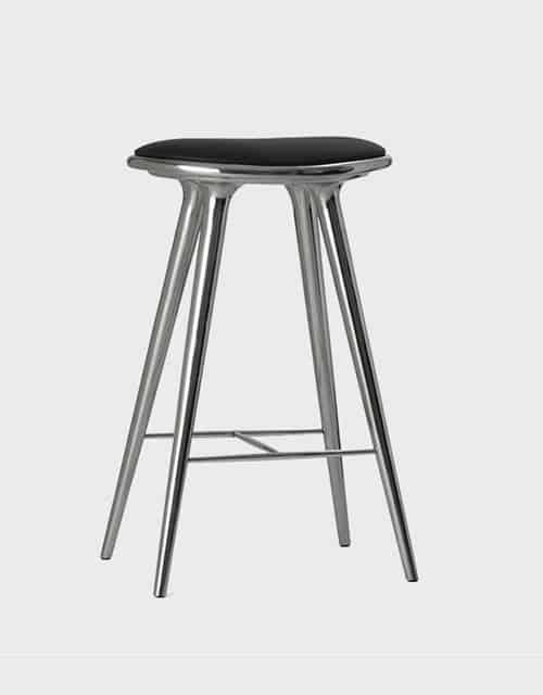 Aukšta kėdė MATER pagaminta iš aliuminio, 74 cm