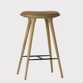 Natūralaus ąžuolo aukšta kėdė MATER, 74 cm