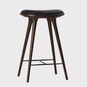 Tamsaus buko aukšta kėdė MATER, 74 cm