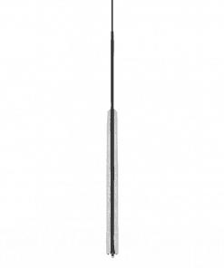 Slopinantis garsą lubinis pakabinamas LED šviestuvas BLOCK interjere iš šono