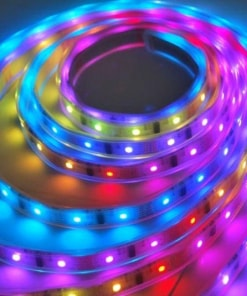 12 W/m LED juosta LUXSONN, 5050, DC24, 60 LED/m, RGB, IP67. Karpoma kas 6 diodai (10 cm)