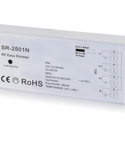LED mono juostos valdiklis-RF imtuvas, 4-ių kanalų, SR-2501N